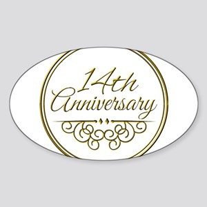 14th Anniversary Sticker