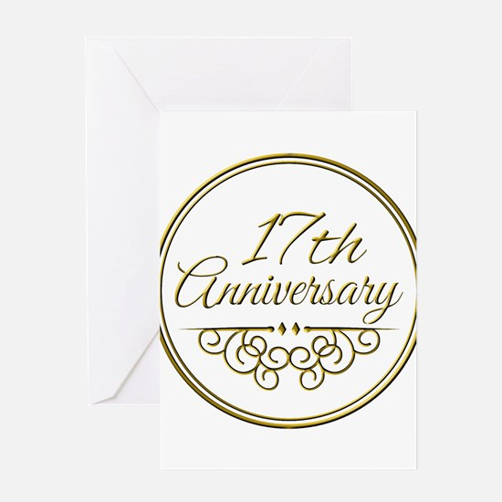 17th Anniversary Greeting Cards