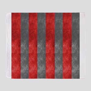Scarlet And Grey Throw Blanket
