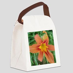 Big orange Canvas Lunch Bag