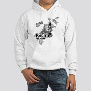 Boston Neighborhoods Cloud Map Hooded Sweatshirt
