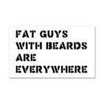Fat Guys With Beards Are Everywhere Car Magnet 20
