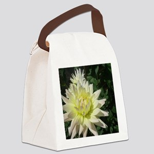 a row of white flowers Canvas Lunch Bag