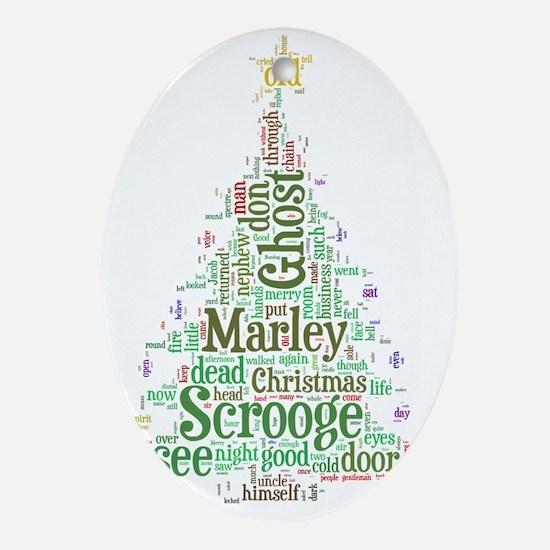 A Christmas Carol Word Cloud Oval Ornament