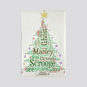 A Christmas Carol Word Cloud Rectangle Magnet