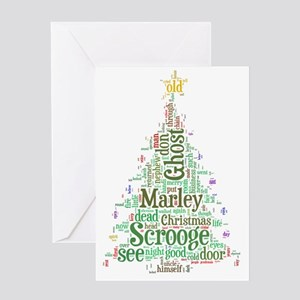 A Christmas Carol Word Cloud Greeting Card