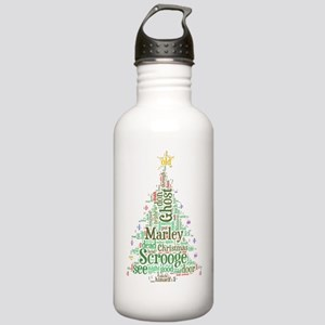A Christmas Carol Word Stainless Water Bottle 1.0L