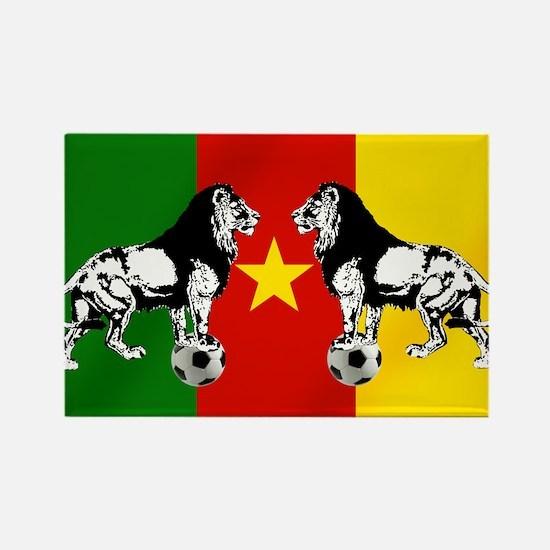 Cameroon Football Flag Rectangle Magnet