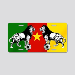 Cameroon Football Flag Aluminum License Plate