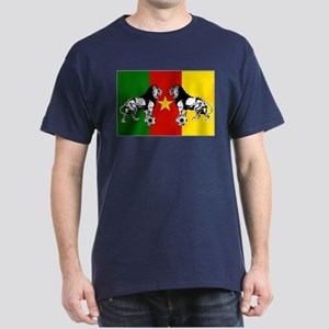 Cameroon Football Flag Dark T-Shirt
