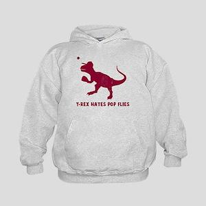 T-rex hates pop flies Kids Hoodie