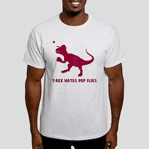 T-rex hates pop flies Light T-Shirt