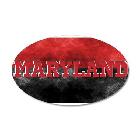 Maryland 35x21 Oval Wall Decal