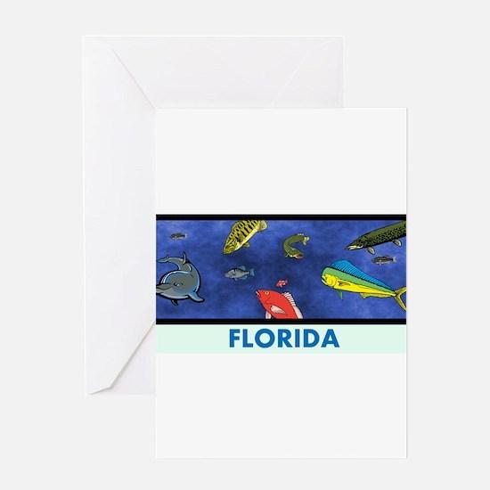 Florida Fish Tank Greeting Card
