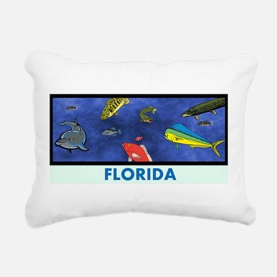 Florida Fish Tank Rectangular Canvas Pillow