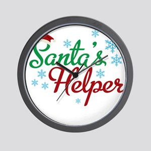 Santas Helper-01 Wall Clock
