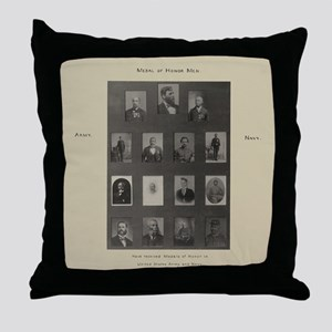 Medal of Honor Collage Throw Pillow