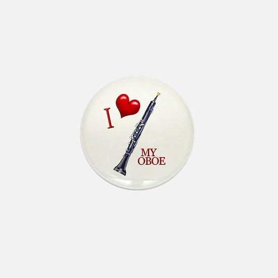 I Love My OBOE (2) Mini Button