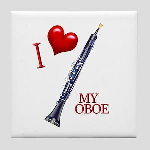 I Love My OBOE (2) Tile Coaster