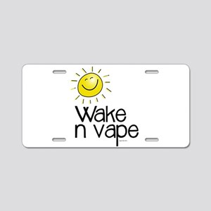 Wake -n- Vape Aluminum License Plate