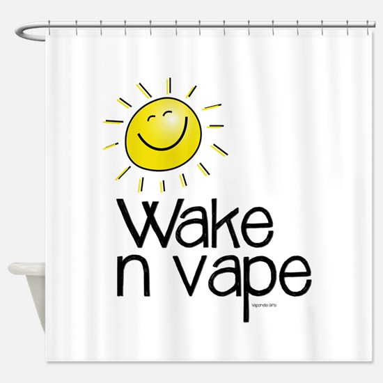 Wake -n- Vape Shower Curtain