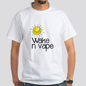 Wake -n- Vape White T-Shirt