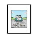 Cats Wedding car Mice Framed Panel Print