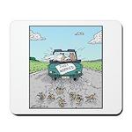 Cats Wedding car Mice Mousepad