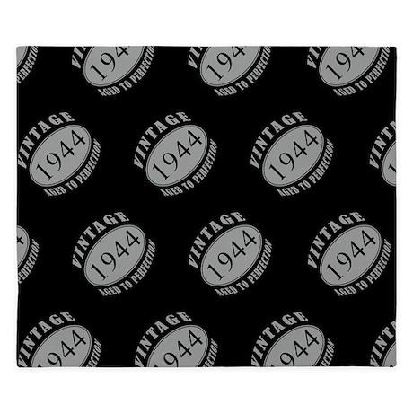 1944 Vintage Black Amp Silver King Duvet By Birthyeargifts2014