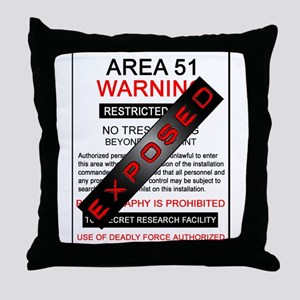 Area 51 Exposed Throw Pillow