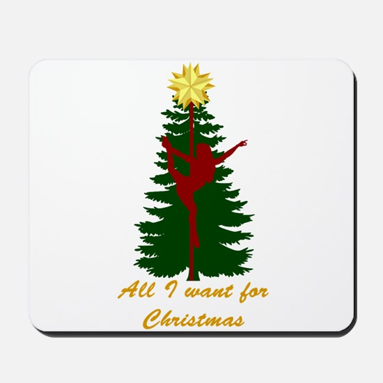 All I Want for Christmas Yellow Mousepad