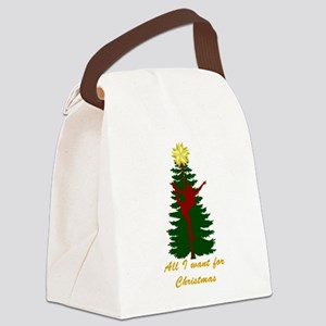 All I Want for Christmas Yellow Canvas Lunch Bag