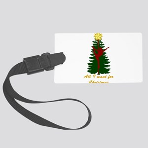All I Want for Christmas Yellow Luggage Tag