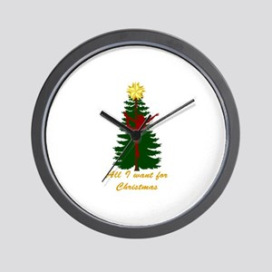 All I Want for Christmas Yellow Wall Clock