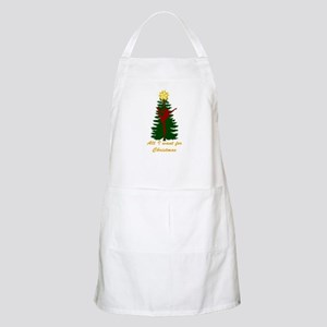 All I Want for Christmas Yellow Apron