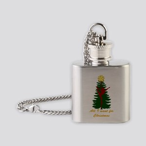 All I Want for Christmas Yellow Flask Necklace