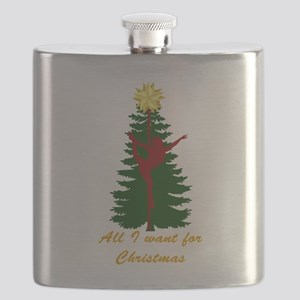 All I Want for Christmas Yellow Flask