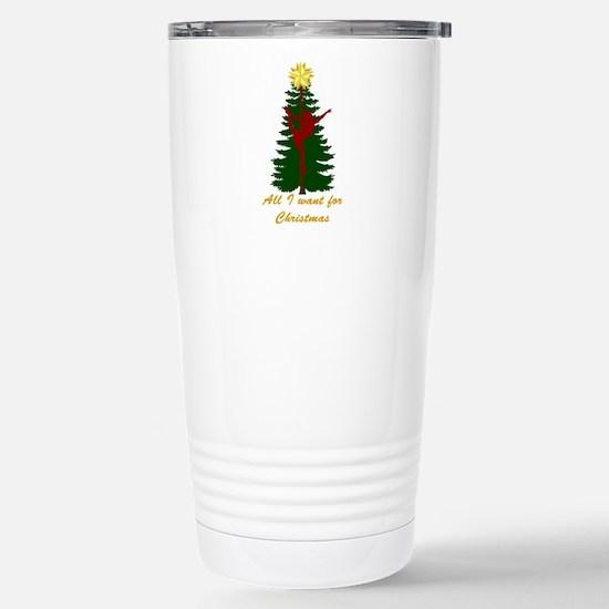 All I Want for Christmas Yellow Travel Mug
