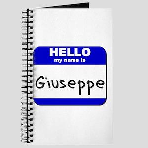 hello my name is giuseppe Journal