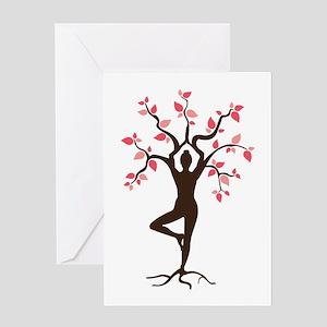 Yoga greeting cards cafepress yoga greeting cards m4hsunfo