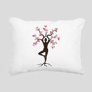 Yoga Rectangular Canvas Pillow