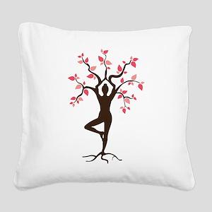 Yoga Square Canvas Pillow