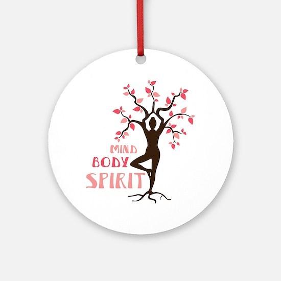 MIND BODY SPIRIT Ornament (Round)