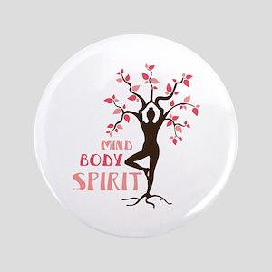 """MIND BODY SPIRIT 3.5"""" Button"""