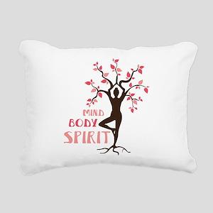 MIND BODY SPIRIT Rectangular Canvas Pillow