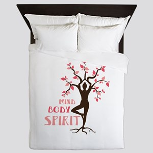 MIND BODY SPIRIT Queen Duvet