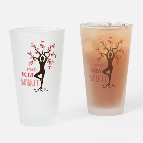 MIND BODY SPIRIT Drinking Glass