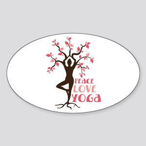 PEACE LOVE YOGA Sticker