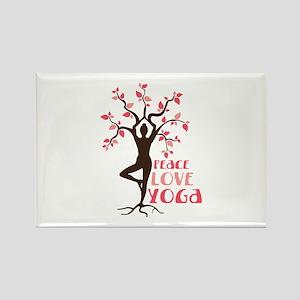 PEACE LOVE YOGA Magnets