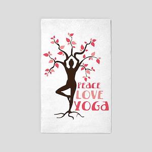 PEACE LOVE YOGA 3'x5' Area Rug